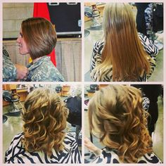 Extensions cut and style #hairbyamie