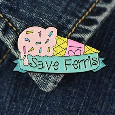 Um, hes sick. My best friends sisters boyfriends brothers girlfriend heard from this guy who knows this kid whos going with the girl who saw Ferris pass out at 31 Flavours last night... - 4 cm tall - soft enamel - single rubber back clasp - unique hand drawn design - Polaroid style