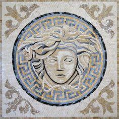 Versace Logo - Mosaic Stone Art | Mozaico