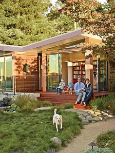 A 1950s Joseph Esherick home in Berkeley, California, inspires an addition that pays homage to the past yet is poised to host the next generation. The butterfly-roof pavilion by architects Kate Simonen, Benjamin Parco, and Phil Kaefer connects to the low-slung home Joseph Esherick designed in 1954 via two covered walkways and an open-air tearoom. All three structures sit lightly on the landscape designed by Lawrence Halprin and updated over 50 years later by Gary Roth, a former employee. ...
