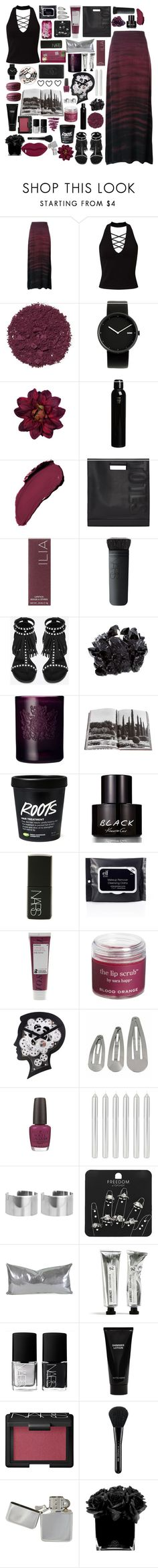 """Haunting"" by dailyoutfits0113 ❤ liked on Polyvore featuring Raquel Allegra, Miss Selfridge, Illamasqua, Alessi, Dahlia, Oribe, NARS Cosmetics, 3.1 Phillip Lim, DK and Ilia"