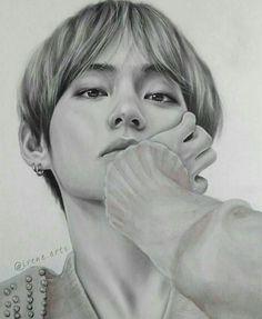 Kpop Drawings, Pencil Art Drawings, Realistic Drawings, Art Drawings Sketches, Bts Taehyung, Taehyung Fanart, K Pop, Celebrity Drawings, Wattpad
