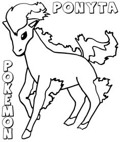 Pokemon Coloring Pages Ponyta