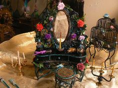 Enchanting Miniature Fairy Dressing Table by EnchantedFairyDreams, $25.00
