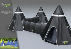 Go camping in style with Dustin Toland's Gigwam tent systems | Designbuzz : Design ideas and concepts