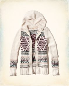 Hollister Patterned Zip Sweater