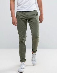 ONLY & SONS Skinny Fit Chinos in Khaki