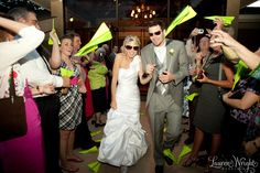 A really cool wedding exit idea - paper airplanes!