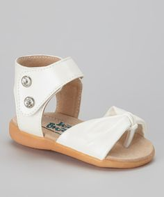 Another great find on #zulily! Itzy Bitzy White Metallic Squeaker Sandal by Itzy Bitzy #zulilyfinds
