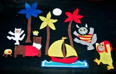 Where the Wild Things Are - Felt Board Flannel Board Story Set Kids Stories. $20.00, via Etsy.
