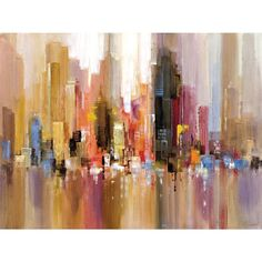 Portfolio Canvas Decor 'City Spree' Large Printed Canvas Wall Art | Overstock.com Shopping - The Best Deals on Gallery Wrapped Canvas