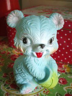 teddy bear. aqua. want.