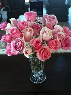 Birthday bouquet.  Pink is my favorite!