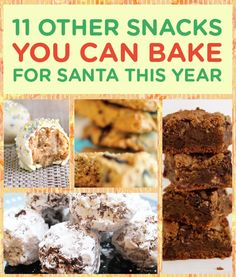 11 Snacks You Can Bake For Santa This Year .. incl. sweet potato rolls!