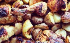 Ricetta per un pollo alle erbe aromatiche #pollo #cucina #ricette #arrosto #patate