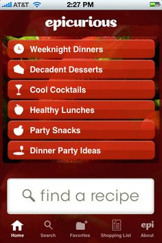 Epicurious Recipes & Shopping List--> http://itunes.apple.com/us/app/epicurious-recipes-shopping/id312101965?mt=8