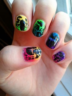 How to paint your nails perfectly nail nail nailssss pinterest pride nails love the idea but someone needs some new crackle paint prinsesfo Images