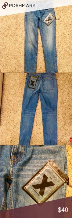 Alexander wang denim Bought these off posh and they did not fit. Just want to get money back. They're a size 26, looks like there were alterations done to the back butt part. In good condition nice blue color. Tag separate came with it Alexander wang but no physical tag on the jean. It was bought from the real real.  Waist 28 hip 34 length 28 rise 10 Alexander Wang Jeans