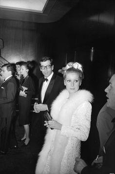 #CatherineDeneuve and #RogerVadim 1963 -- #BowTie