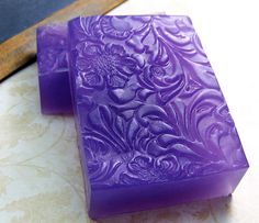 """Impressions in Lavender""  Handmade soap. What a gorgeous colour. http://whytaboo.com.au/"