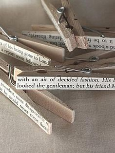 Jane Austen quotes on clothes pegs