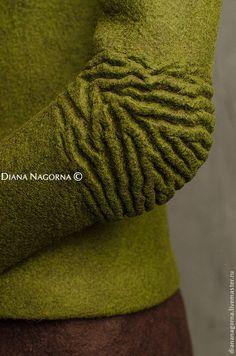 """Куртка из мериносовой шерсти """"Kelly green"""" - зеленый,однотонный,куртка"""