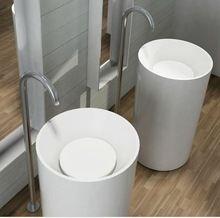 lavabo de pedestal esquina para el proyecto del hotel / cuenca esquina redonda…
