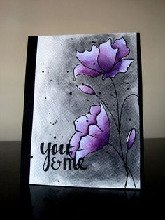 handmade card: Color Splash! from Experiments With Card Making Etc ... luv the artist look of watercolor backgrounds ...