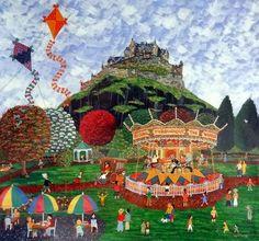 Lynn Hanley Village Fete, Art Uk, Naive Art, Houses, Holidays, Painting, Design, Homes, Holidays Events