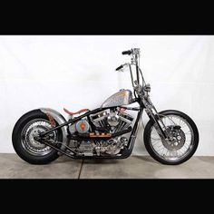 1 of 4 NEW Pictures --- Retro Silver Bobber with Apehangers CLICK Pic to View All Bobbers #bobber #bobbers