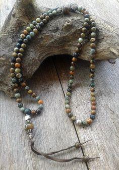 Jade Mala ketting versierd met oude Nepalese door look4treasures, $67.95