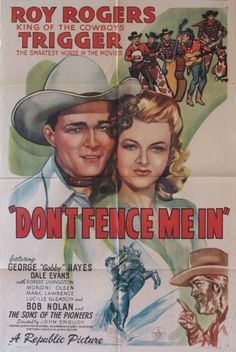 DON'T FENCE ME IN Movie Poster (1945) || WESTERN Movie Posters @ FilmPosters.Com - Vintage Movie Posters and More