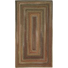 Capel Rugs 0048qs00270048700 Manchester Brown Hues Concentric Rectangle Braided Rectangular Area