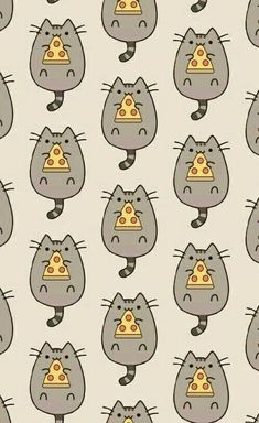 This Pusheen pattern is everything. More Dieses Pusheen-Muster ist alles. Wallpaper For Your Phone, Kitty Wallpaper, Kawaii Wallpaper, Pattern Wallpaper, Cute Backgrounds, Wallpaper Backgrounds, Kawaii Drawings, Cute Drawings, Chat Pusheen