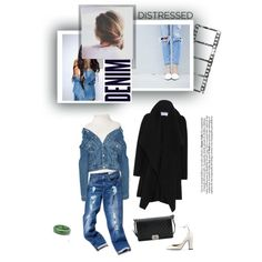 You can never own too much denim by minorseventh on Polyvore featuring polyvore, fashion, style, Diane Von Furstenberg, Harris Wharf London, Balenciaga, Tommy Hilfiger, Valentino, Chanel and Palm Beach Jewelry