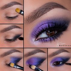 Gorgeous electric blue and purple look by Ely Marino using Motives Mavens Element palette!