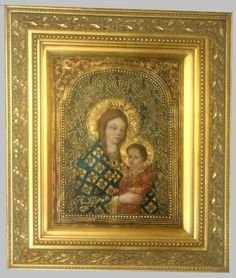 King's Gallery has this beautiful signed original oil on canvas done in gold leaf by Diana Mendoza. This is the second painting of the Madonna and Child at King's Gallery.