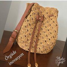 @orgude_inovasyon 😂😂 Suni deriler 10 numara 5 yıldız olmuş valla harika kombin 😍 #handmadebags #cantaaksesuarları