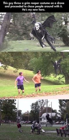 You Can't Escape The Reaper!  http://funphotololz.com/funny/you-cant-escape-the-reaper/