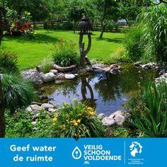 Iedere tuin heeft watervriendelijke elementen. Wij zijn natuurlijk ook erg benieuwd naar jullie tuinen. Deel een foto van je tuin met ons via Pinterest  met de hashtag #geefwaterderuimte om zo anderen te inspireren. #Geefwaterderuimte #HHNK #Tuin
