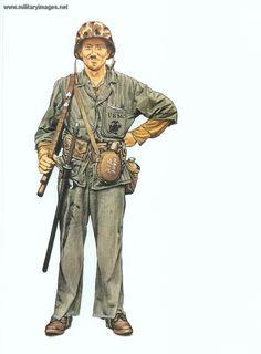 U.S.M.C. Private 1st Division con trofei giapponesi.