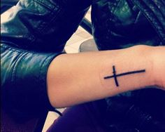 Perfect placement, size and shape of cross.
