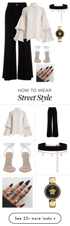"""Street Style"" by giulia-ostara-re on Polyvore featuring River Island, Chloé, Diane Kordas and Versace"
