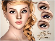 Feline Eyeliner by Pralinesims - Sims 3 Downloads CC Caboodle