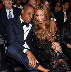 """Look Bey, No Socks! """"Drunk in Love"""" couple Beyonce and Jay Z got cozy in the audience. Beyonce went on to win three Grammys. Jay Z went on to have the best facial reaction of all time when Kanye West jumped onstage to seemingly protest Beyonce's Album of the Year loss to Beck."""