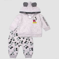 Baby Boys' Mickey Mouse Fleece Set - Gray Boy's Baby Club - online baby clothes stores where you can find fashionable baby clothes. There is a kid and baby style here. Mickey Mouse Baby Clothes, Baby Mouse, Disney Baby Clothes Boy, Mickey Mouse Outfit, Disney Boys, Cute Baby Boy Outfits, Cute Baby Clothes, Disney Outfits, Kids Outfits