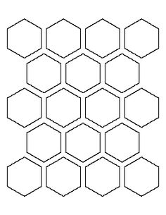 2.5 Hexagon pattern. Use the printable outline for crafts