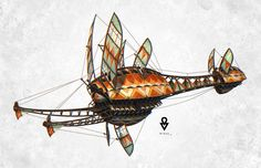 "AT OL Illustration - Beetleship, Alexander ""Minze"" Thümler on ArtStation at…"