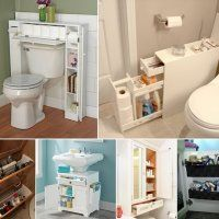 Creating enough storage in a small bathroom can sometimes be a challenge. But you can conquer the clutter in an effective way if you add some space-saving
