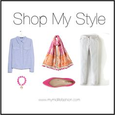 Accessorising White Jeans www.mymidlifefashion.com